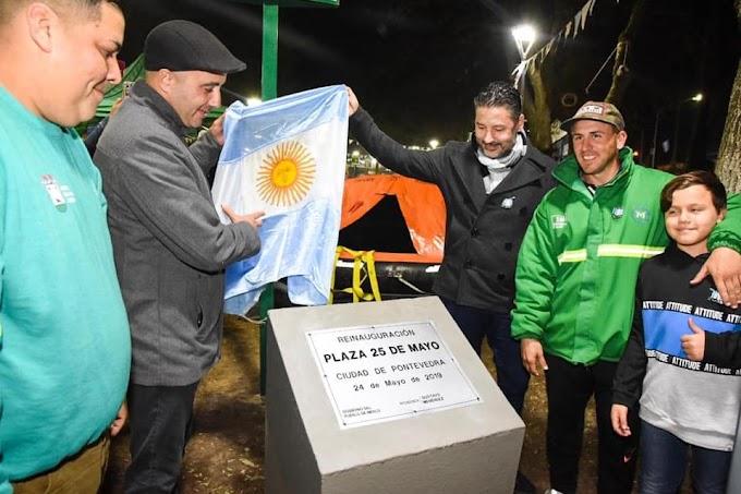 """Se reinauguró la Plaza """"25 de Mayo"""" de Pontevedra"""