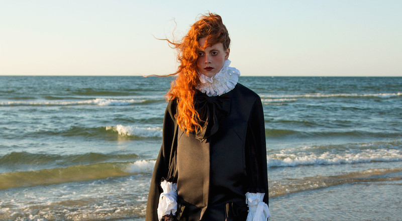mourning glory: natalie westling by inez & vinoodh for w september 2015