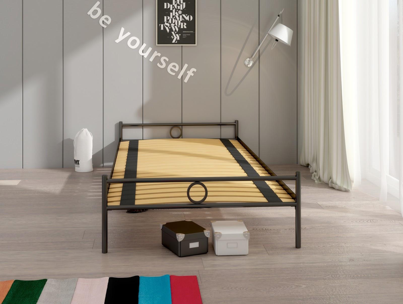 Łóżko metalowe Lak System Basic