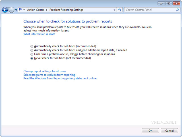 "Fix bug ""Check online for a solution later and close the program."" in Windows 7. 004"
