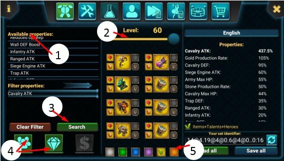Gear Tersakit Kavaleri pada geme lords mobile