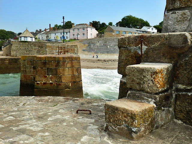 Steps on Charlestown harbour, Cornwall