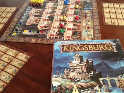 Kingsburg board game in play