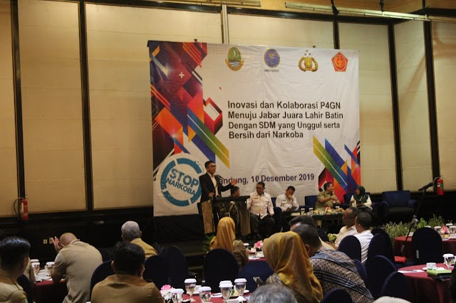 BNNP Jabar Gelar Rakor P4GN, Dorong Kabupaten Kota Ciptakan Regulasi Lawan Narkoba
