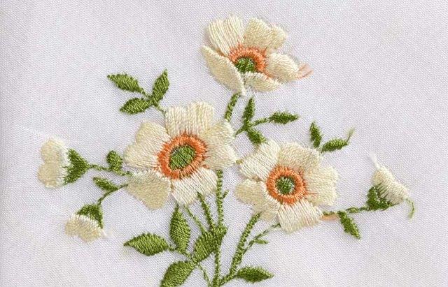 Hình thêu hoa đẹp