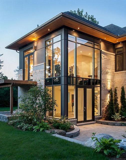 แบบบ้านกระจก