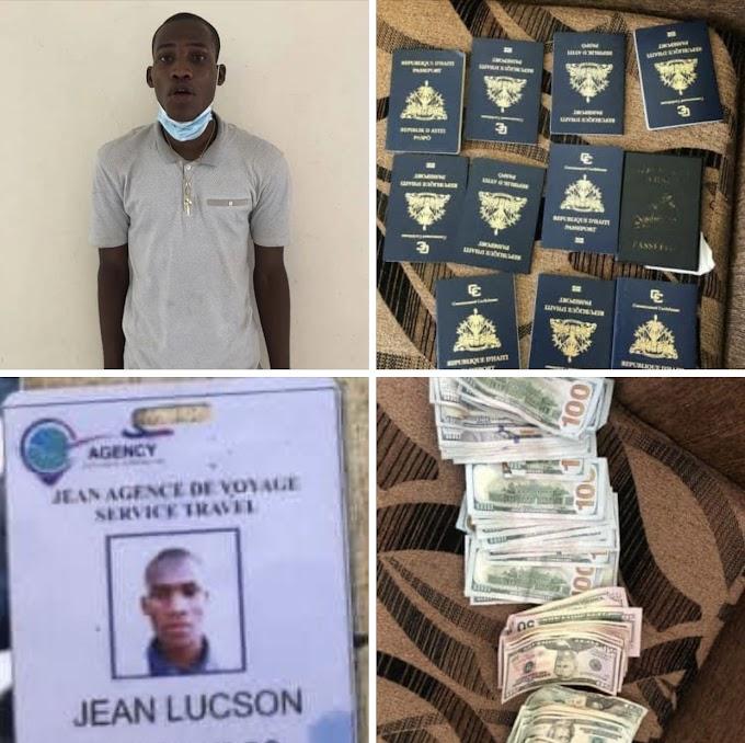 Detiene haitiano con 11 pasaportes, computadoras, dólares y otras pertenencias