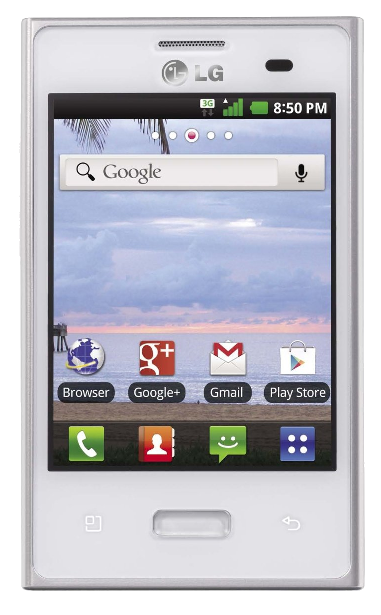 FREE LG Optimus Dynamic White.