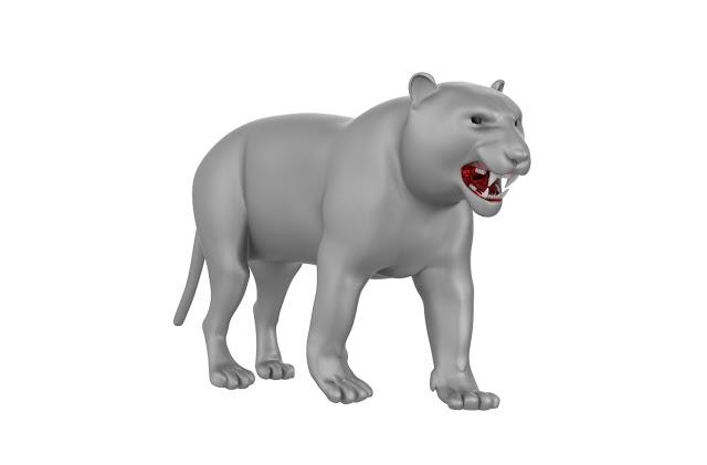 tiger 3d model free download obj