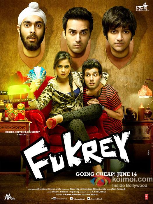 Fukrey 2013 full hd Hindi Movie 480p BluRay 450MB ESubs