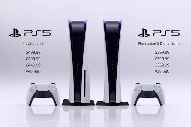 La PS5 Standard Edition se venderá a $ 499.99 mientras que la Digital Edition tiene un precio de $ 399.99