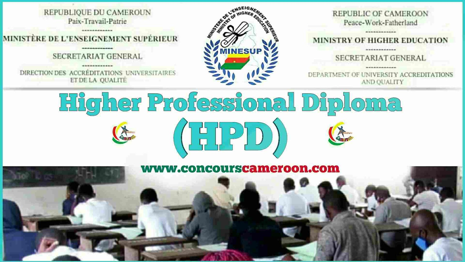 Hpd Results June July 2020 Session Of The Higher Professional Diploma Minesup Cameroun