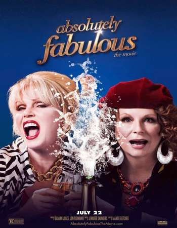 Poster Of Absolutely Fabulous The Movie 2016 Dual Audio 720p BluRay ORG [Hindi - English] ESubs Free Download Watch Online downloadhub.net