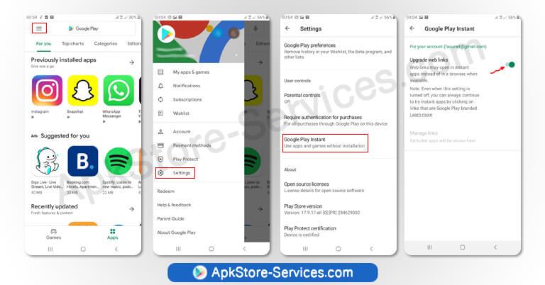 كيفية تمكين التطبيقات الفورية من متجر Play على جهازك Android