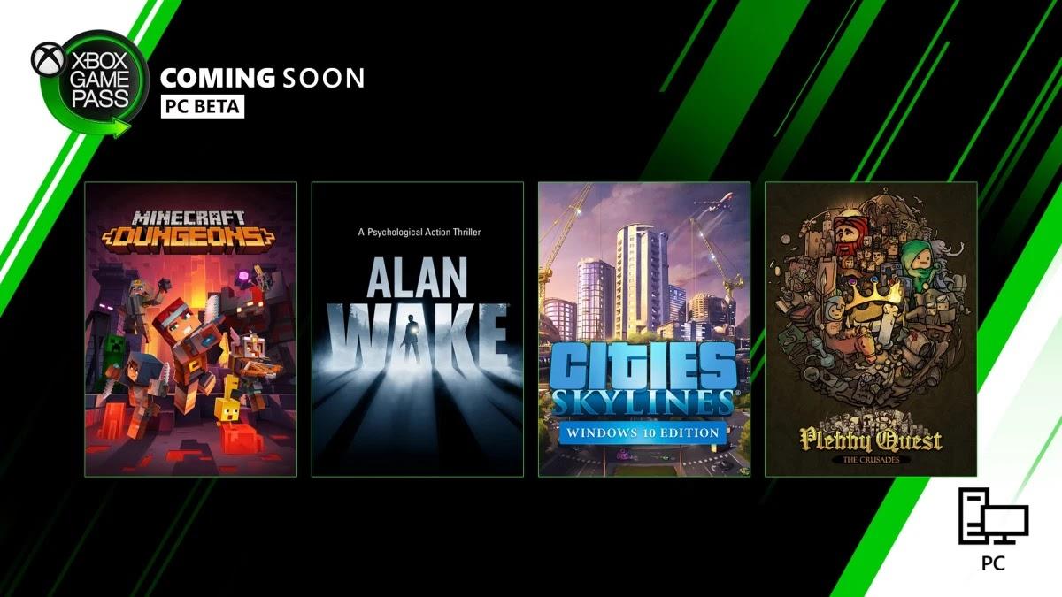Xbox Game Pass adicionará Minecraft Dungeons e Cities: Skylines