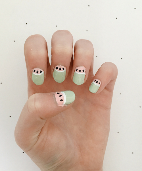 Diy In The Forest Nail Art Tutorial Pastel Watermelon
