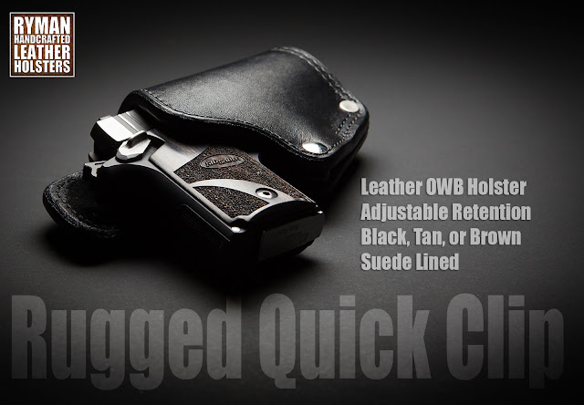 Best outside the waistband leather holster, Ryman Holster reviews, American made holster