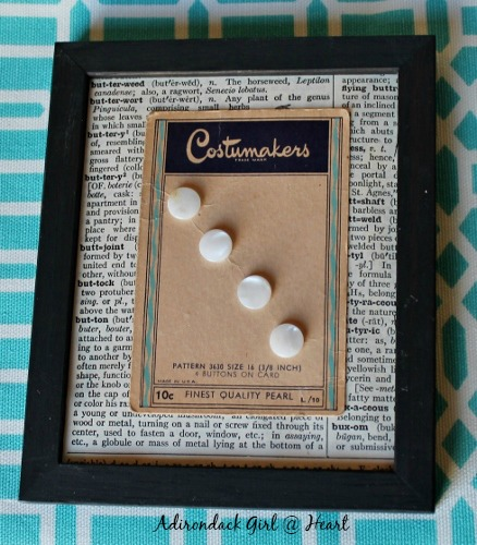 How to Display Your Vintage Buttons
