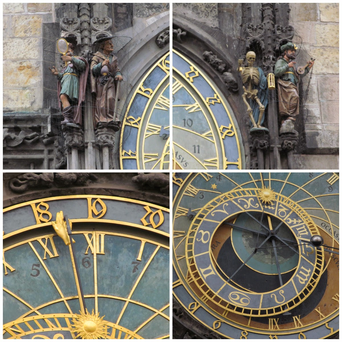 close up of astronomical clock prague