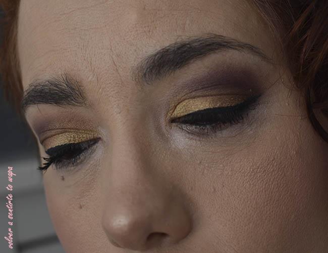 Maquillaje en dorado y ciruela con NYX