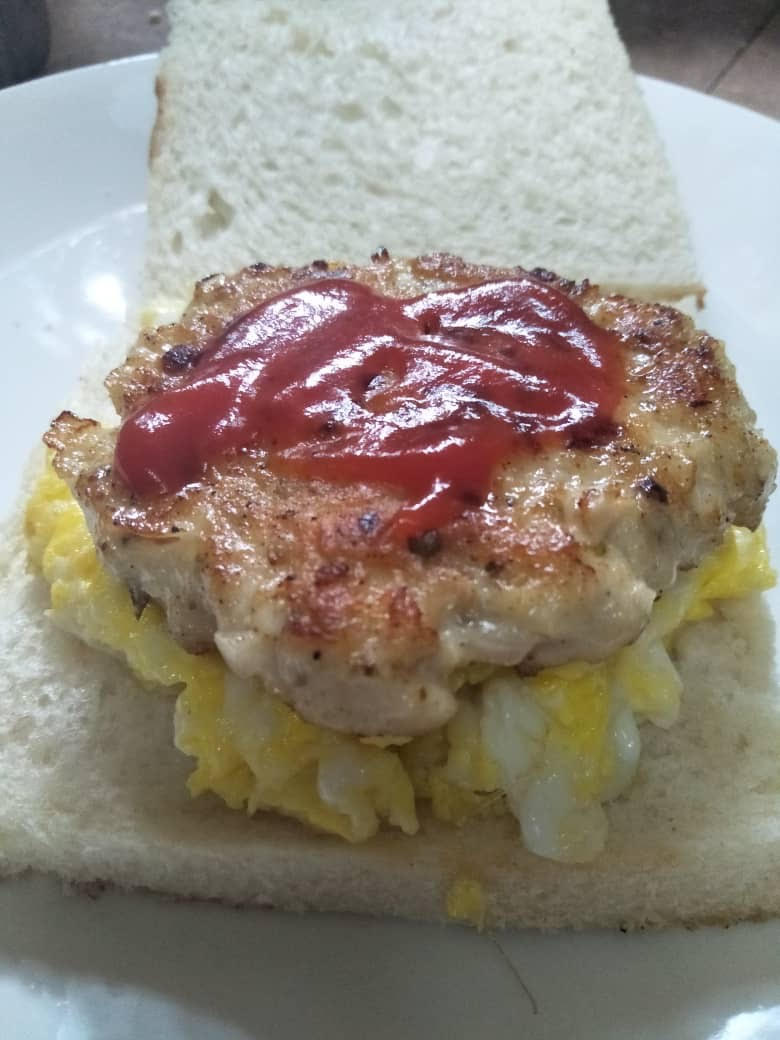 cara buat burger mudah, mini burger ayam,bekal anak, bekal sekolah
