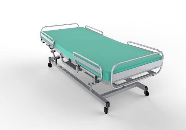 Hospital Bed 3D Model Free Download Obj.Maya.Low Poly