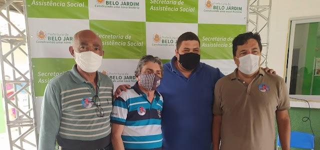 Vereador Claudemir Paulino participa do primeiro CRAS Volante e reúne-se em almoço com vereadores