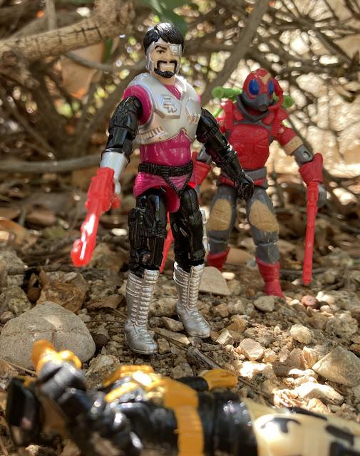 1994 Battle Corps Metal Head, 1992 Talking Battle Commander Stalker, 1987 Cobra La Royal Guard