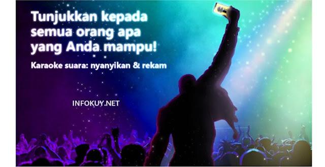 Karaoke suara: nyanyikan & rekam