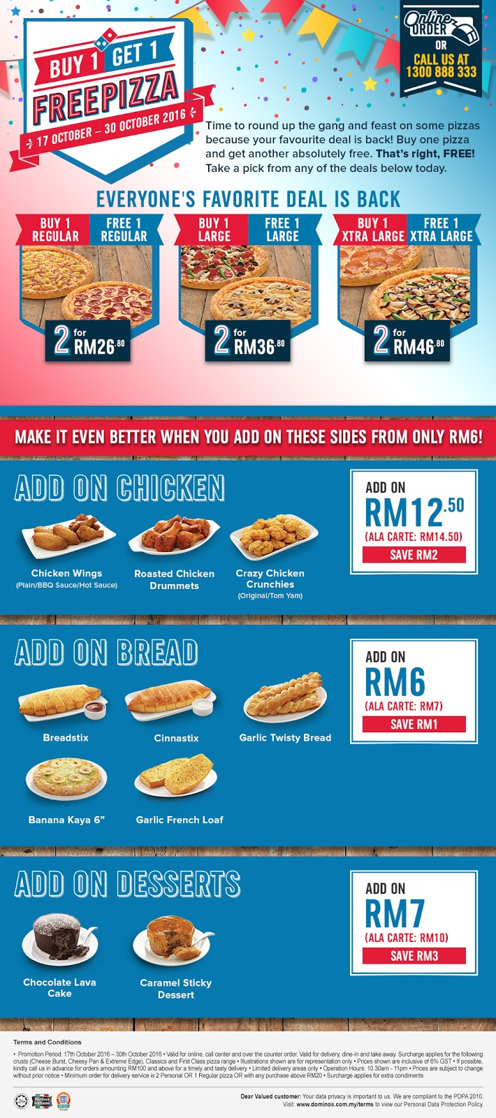how to order domino online malaysia
