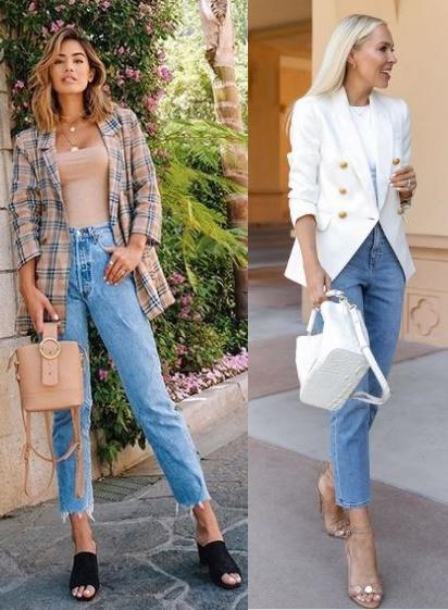 12 Looks inspiração com calça jeans, Jill Wallace, Veronica Levy