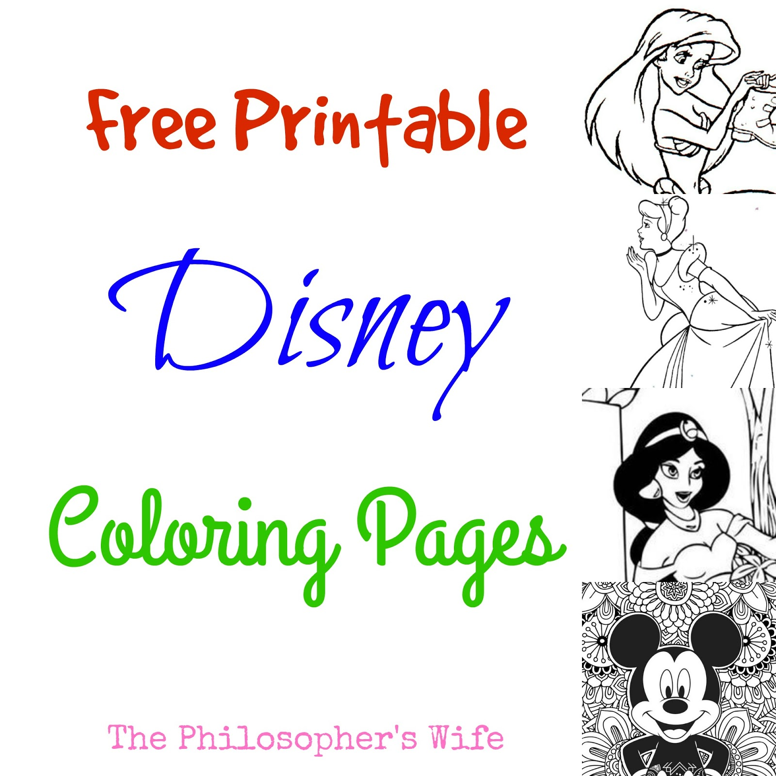 the philosopher u0027s wife free printable disney coloring pages