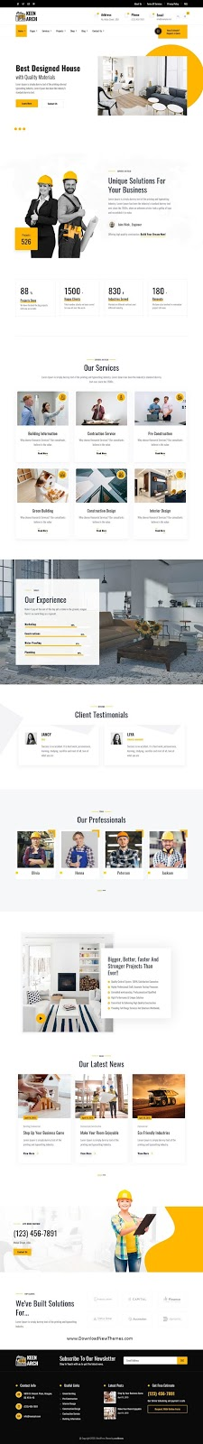 Building & Construction Premium WordPress Template