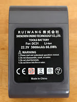 SHENZHEN ENDRO TECHNOLOGY Roallybattery Dyson ダイソンDC31 ソニ— 製3000mAh電池搭載 DC34 DC35 DC44 DC45 917083-01 掃除機互換バッテリー 長寿命 (type A ボタン脱着式)初期型 1年保証