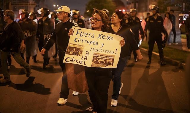 Marcha en Lima contra liberación de Keiko Fujimori