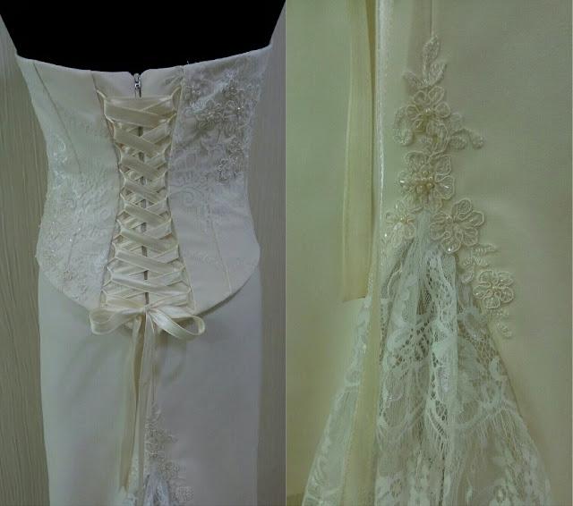 Пример украшения для свадебного платья