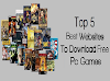 5 Best websites for download free PC games 2018 , highly compressed pc games