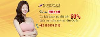 Đăng ký liền tay nhận ngay cơ hội phẫu thuật thẩm mỹ tại Hàn Quốc