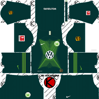VfL Wolfsburg Kits 2019/2020 -  Dream League Soccer Kits