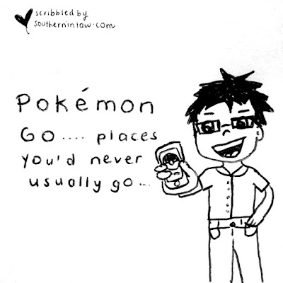 Pokemon Go Cartoon - Pokemon Go Places You'd Never Usually Go