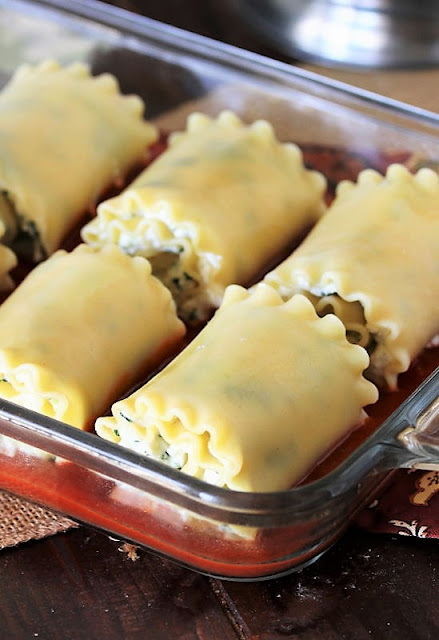 Rolled Up Spinach Lasagna Roll-Ups Image
