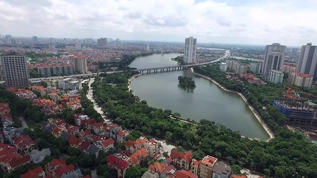 Hồ điều hòa Linh Đàm nằm gần dự án ECO LAKE VIEW