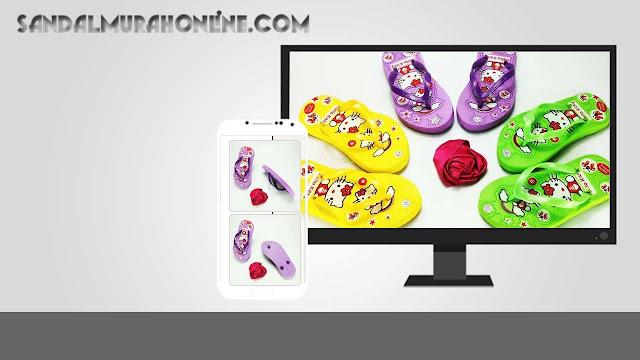 Grosir Online Sandal Anak Cewek- AB Sablon HK Anak