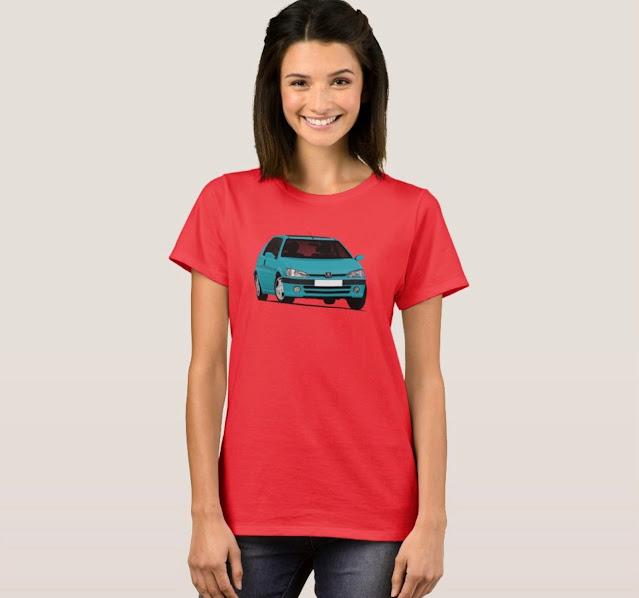 Blue Peugeot 106 t-shirt