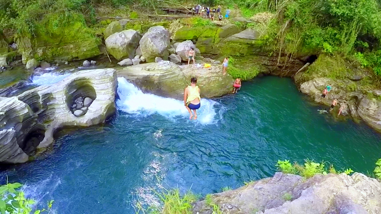 Cliff Diving Spot Tangadan Falls Baroro River San Gabriel La Union