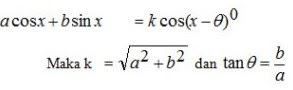 Bentuk a Cos x + b Sin x