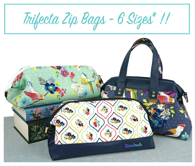 Trifect Zip Bags - a Sewing Pattern by Janelle MacKay