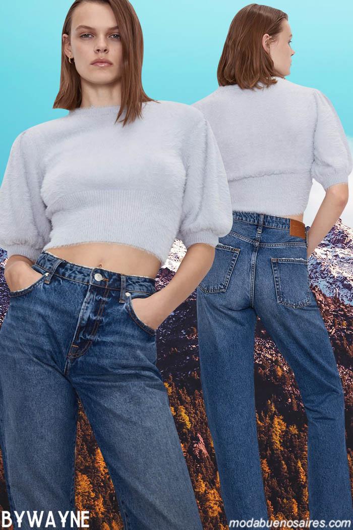 Jeans tiro alto invierno 2020. Moda invierno 2020 denim.
