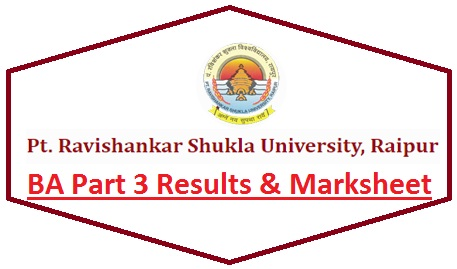 Ravishankar Shukla University BA Part 3 Result 2020