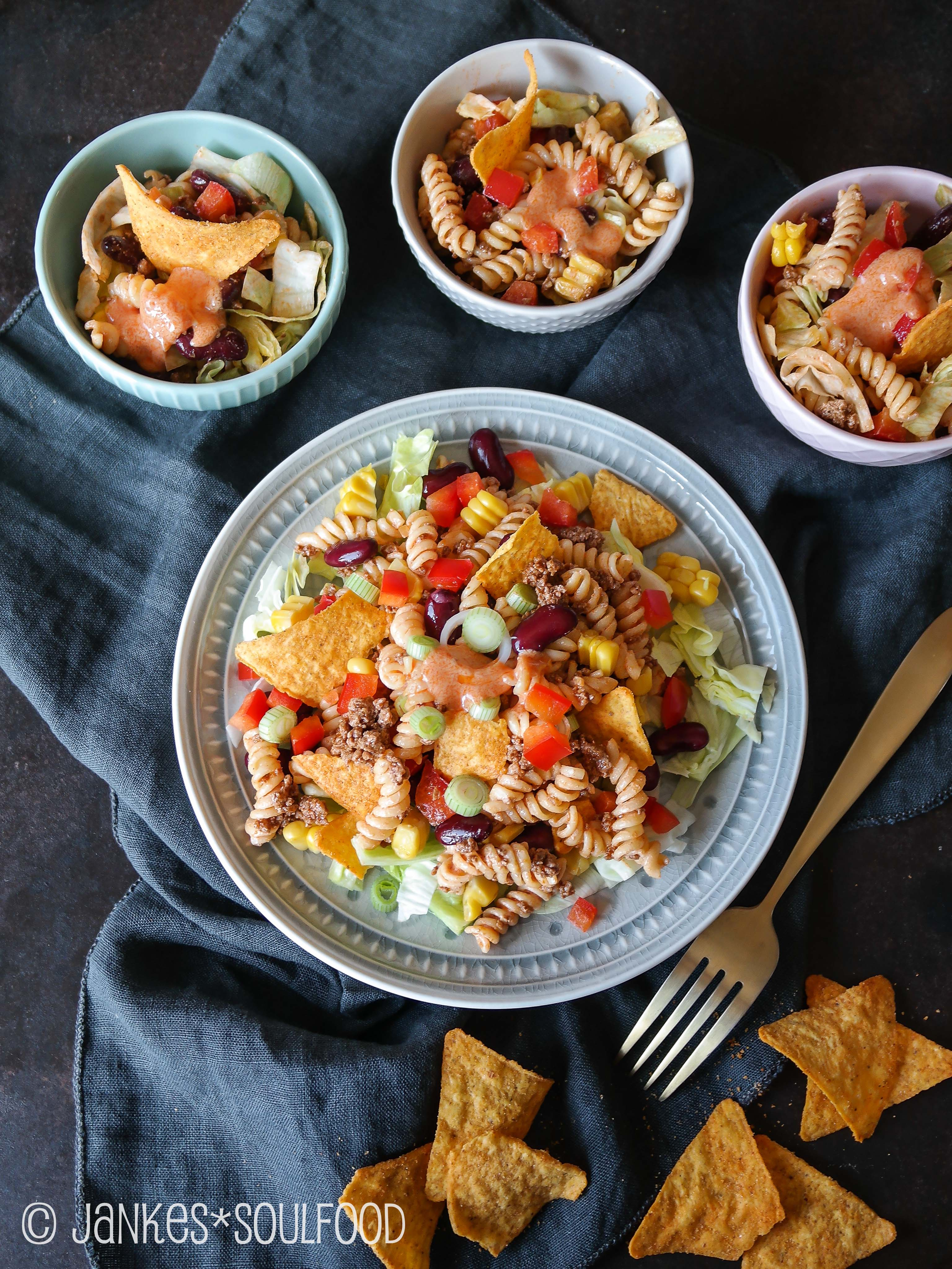 Nacho-Nudel-Salat